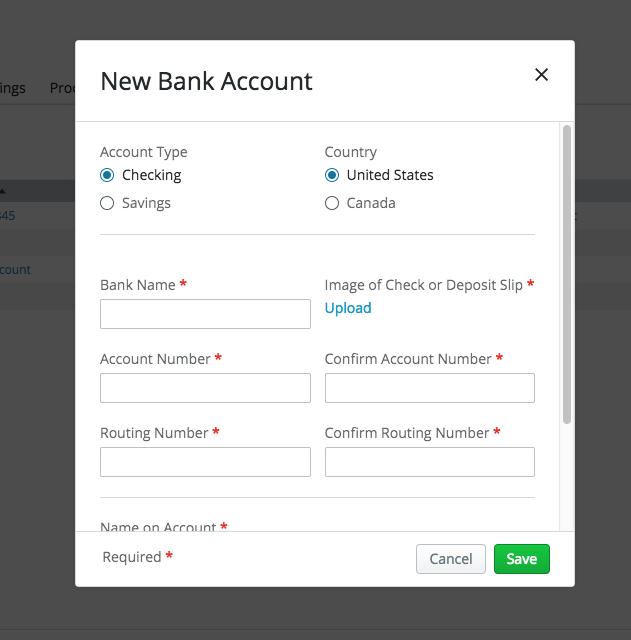 SportsEngine | Add a Bank Account