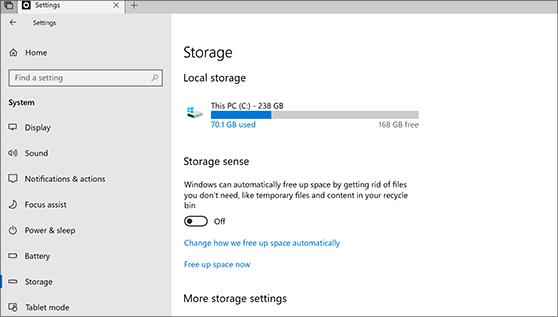 Windowsのハードドライブの空き容量を確認。