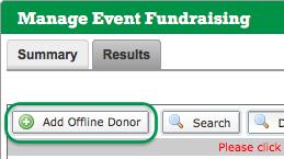 Add Offline Donor