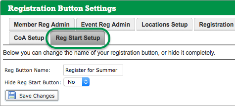 Registration Button Settings