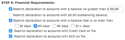 STEP 5: Financial Requirements