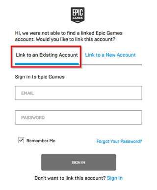 Link Epic Games Account to Xbox, PlayStation or Nintendo