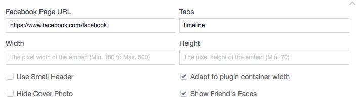 Facebook Page Plugin generator