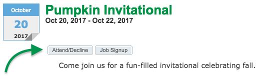 Event Attend/Decline button