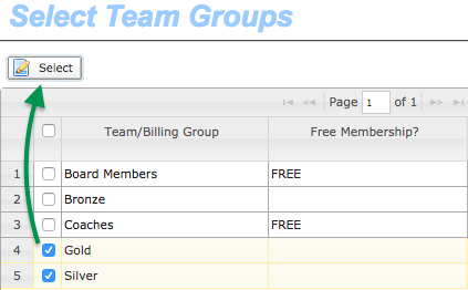 Billing Groups to restrict