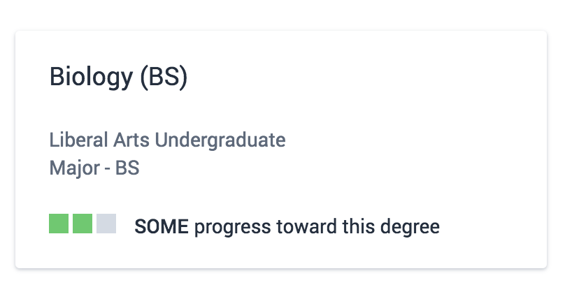 Compare Degree Card