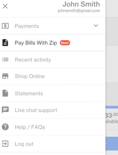 Using your Zip account to pay bills - Zip Help Centre