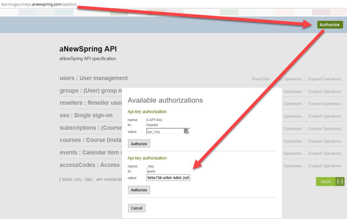 ○ API, Single Sign-On and WebHooks - aNewSpring Knowledge base