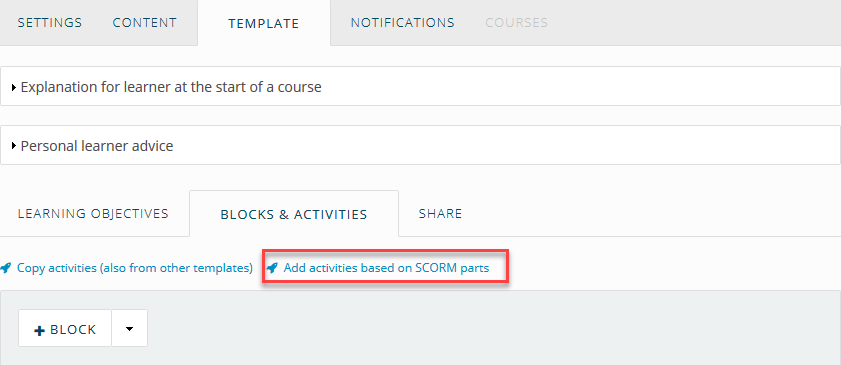 ○ Adding SCORM to a course template - aNewSpring Knowledge base