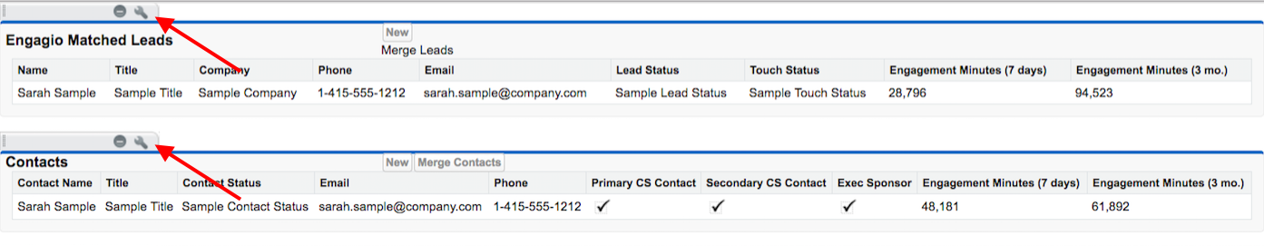 Add Engagement Minutes to Engagio Matched Leads in
