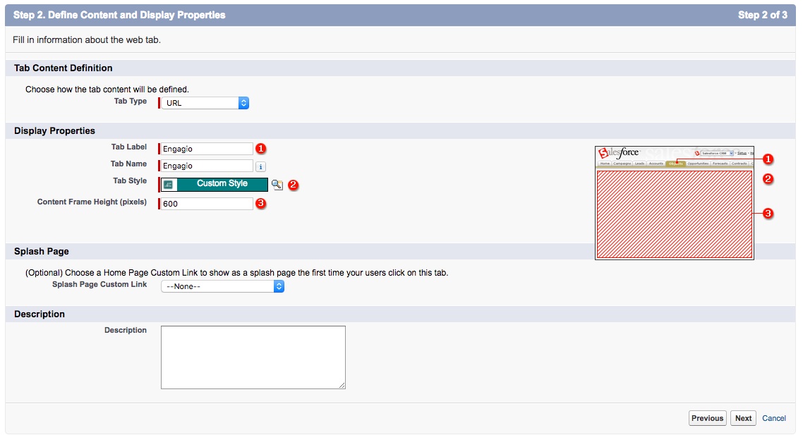 Step 6: Add Engagio as a tab in Salesforce - Advice and