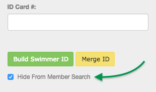 Hide From Member Search checkbox