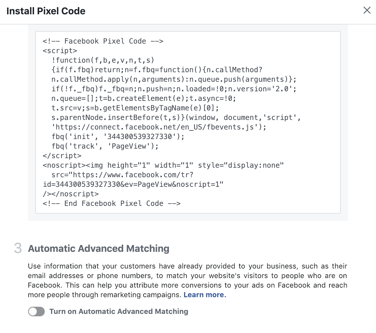 How to Add a Facebook Pixel to Your Account - MemberVault Help