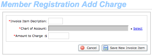 Add Charge fields in registration