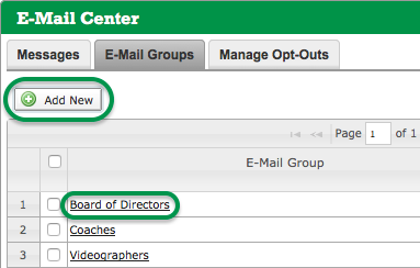 E-Mail Groups