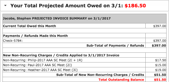 Your Total Projected Amount Owed