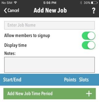 Enter job description in Notes
