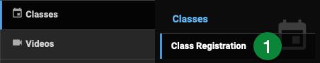 Classes menu