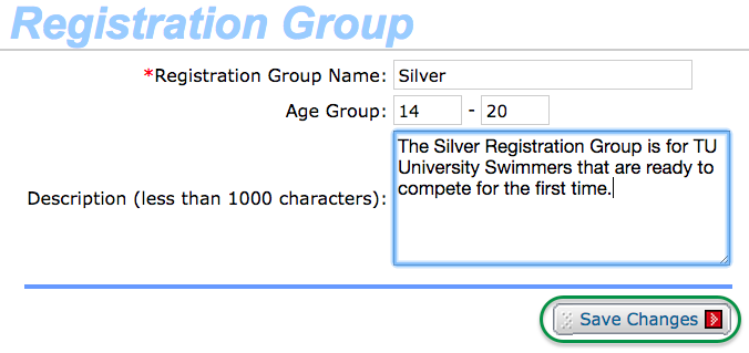 Registration Group details