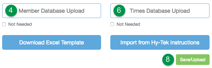 Click Member and Times buttons to import