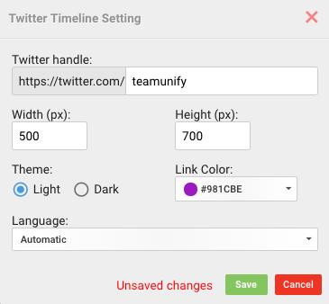 Twitter Timeline Setting