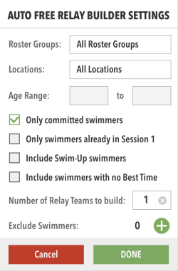Auto Free Relay Builder Settings