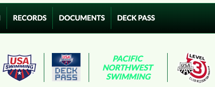 USAS Deck Pass menu and badge