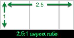 2.5:1 aspect ratio