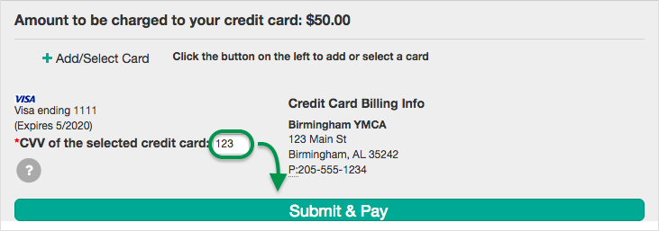 Click Submit & Pay