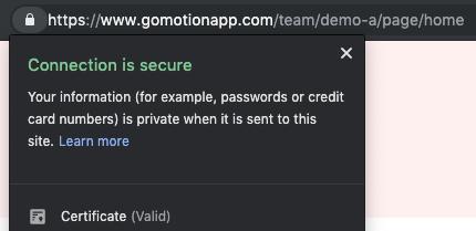 https in Google Chrome