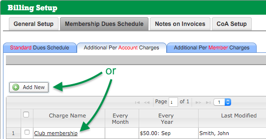 Additional Per Account Charges