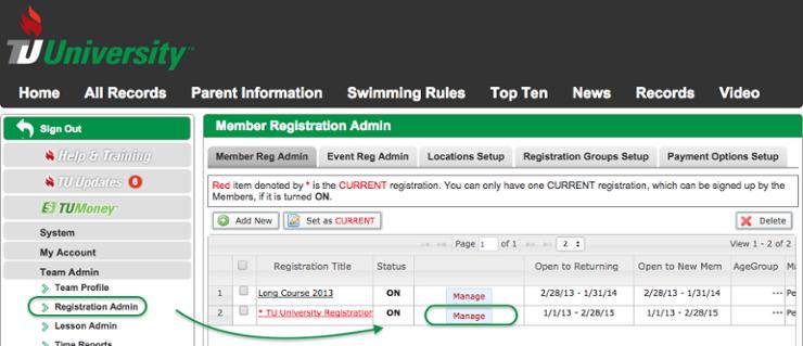 Registration Admin