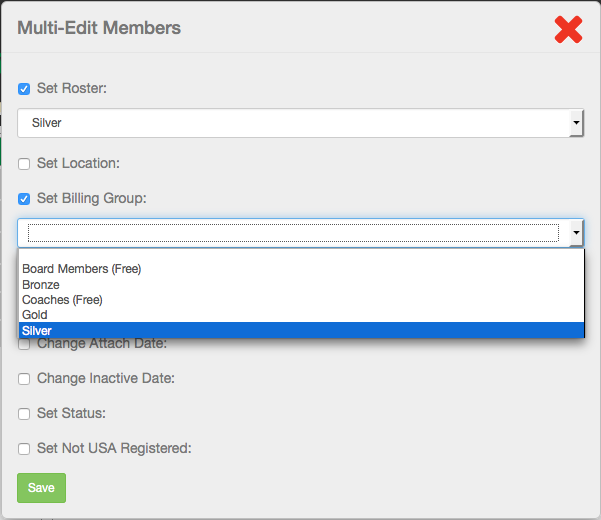Multi-Edit Members dialog selections
