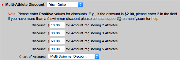 Multi-Athlete Discount dollar