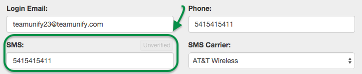 SMS info