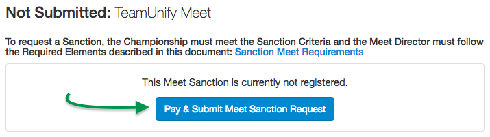 Pay & Submit Meet Sanction Request button