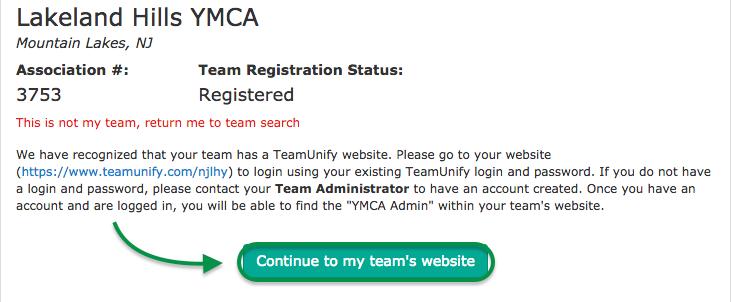 YMCA team details