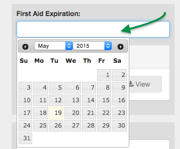 First Aid Expiration