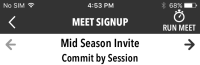 Commit by Session Meet