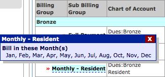 Sub Billing popup