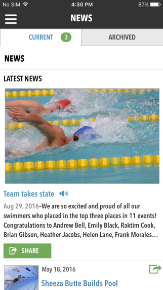 Tap news article to read