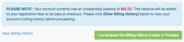 Outstanding balance notice