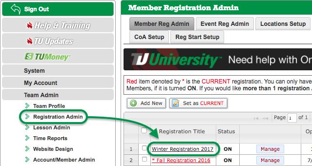 Member Registration Admin