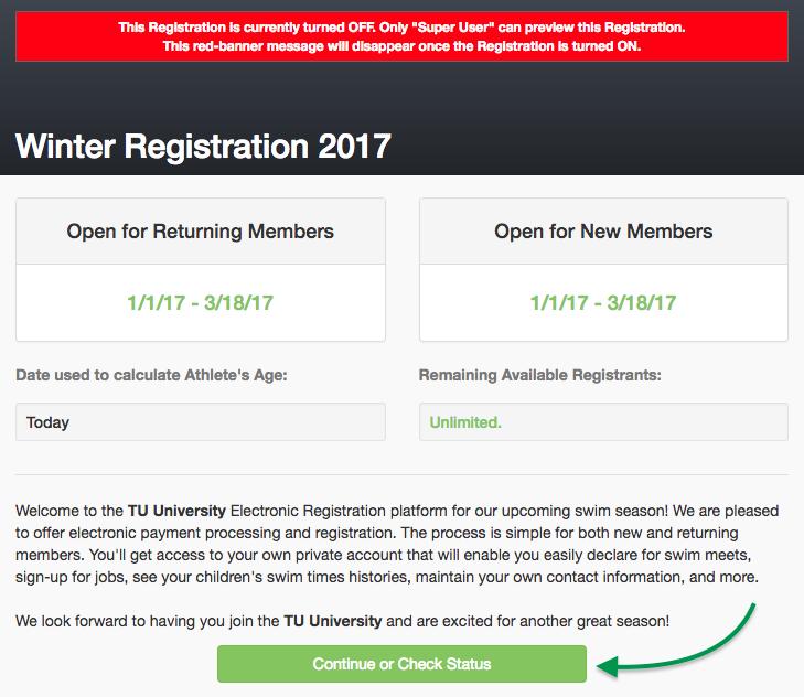 Member Registration title page