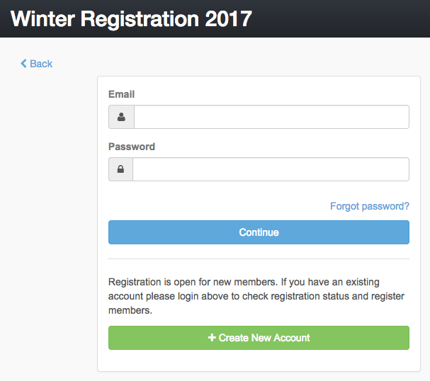 Registration login