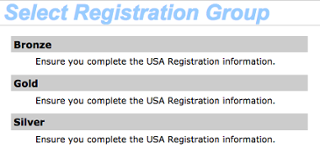 Select Registration Group