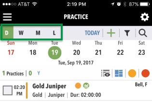 Coaching Tools Practice Calendar views