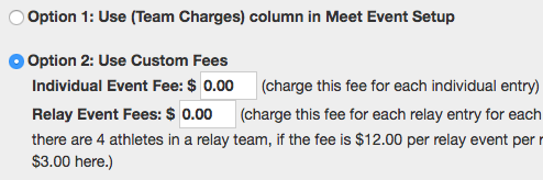 Option 2: Use Custom Fees