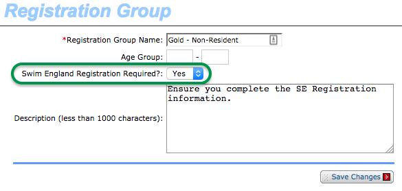 Setup Registration Group