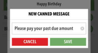 New Canned Message